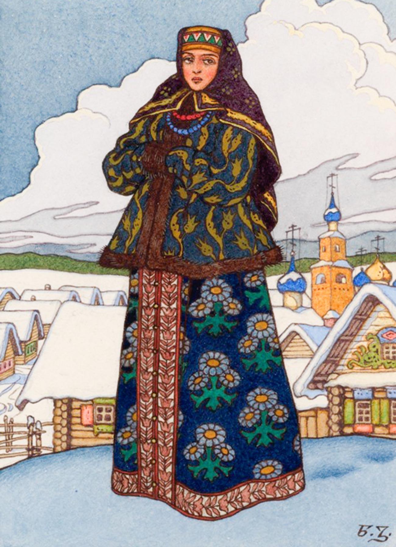 Boyarine russe en hiver