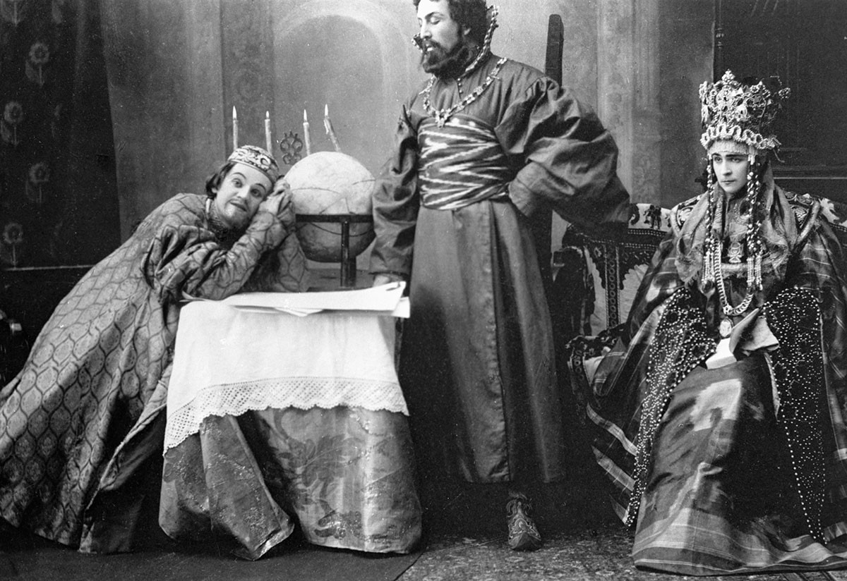 Ivan Moskvin in Aleksey Tolstoy's tragedy 'Tsar Fyodor Ioannovich'.