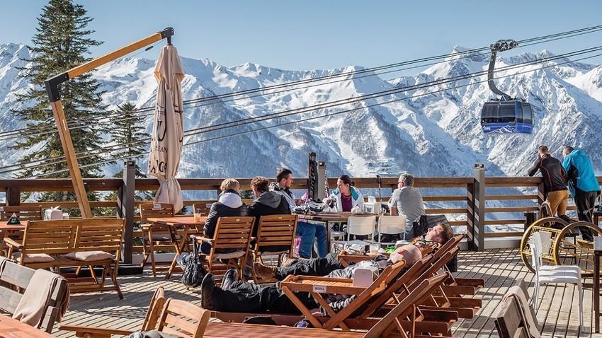 La estación de esquí de Krasnaya Poliana, cerca de Sochi