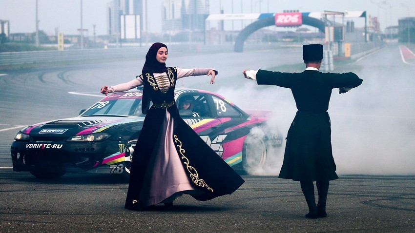 2020 Russian Drift Series Yug in Grozny, Chechnya.