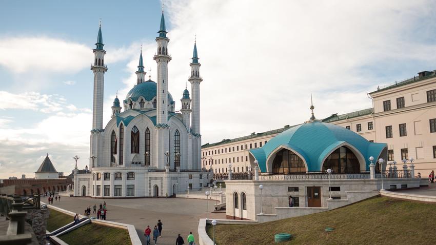 Masjid Kul Sharif di Kota Kazan, Republik Tatarstan, Rusia.