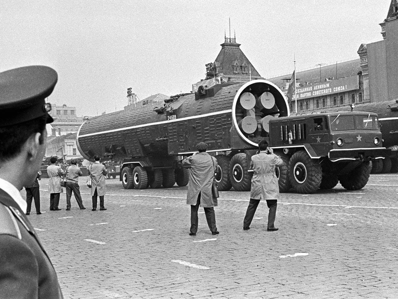 Парада на Црвениот плоштад по повод 20-годишнината од победата над нацистичка Германија.