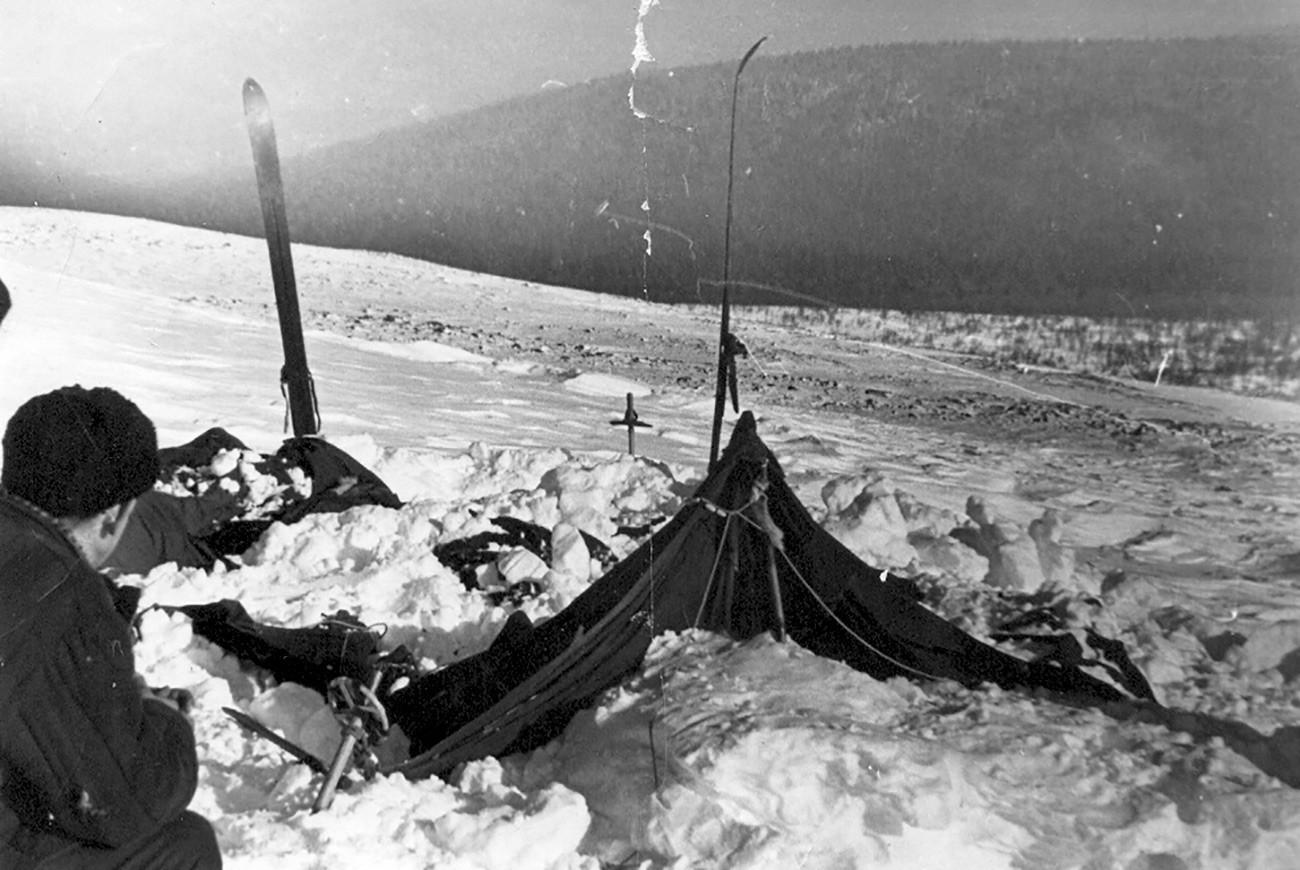 La tente, telle qu'elle a été retrouvée
