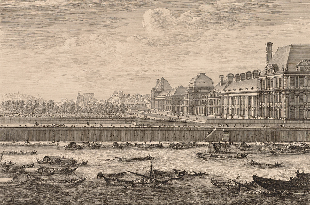 Гледка към двореца и градините Тюйлери