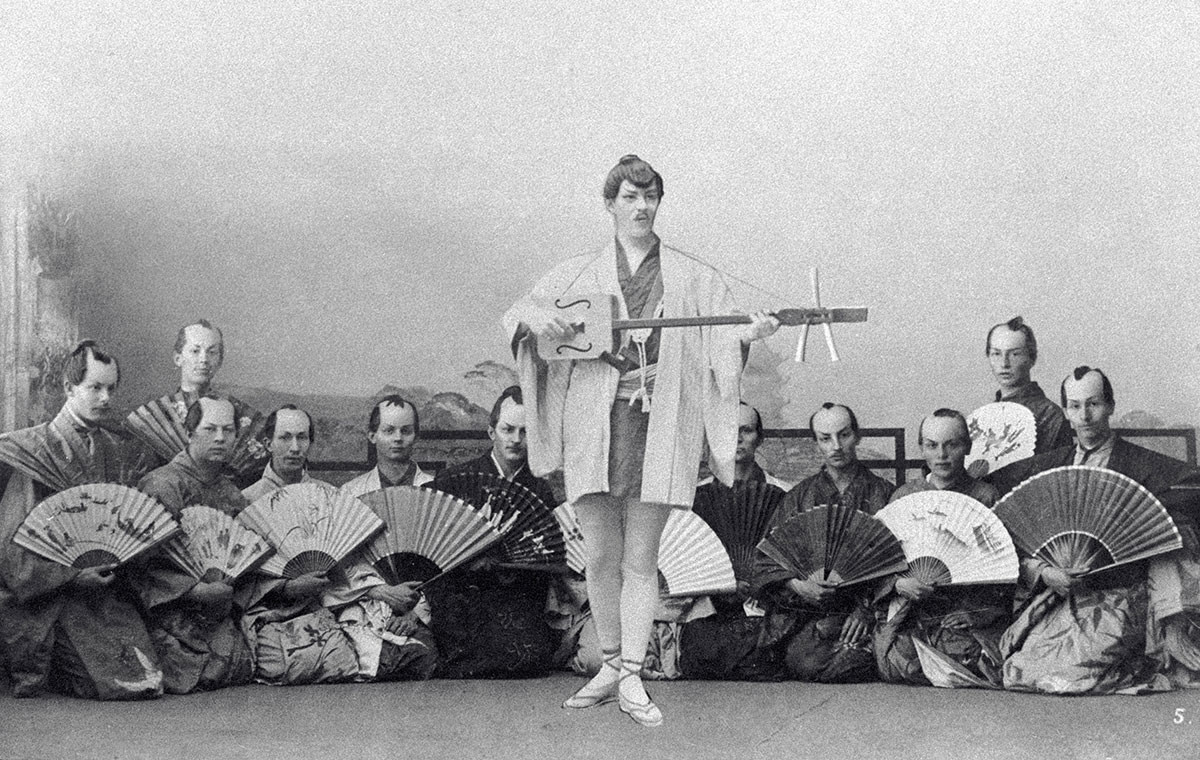 Stanislavski au centre, lors de l'opérette
