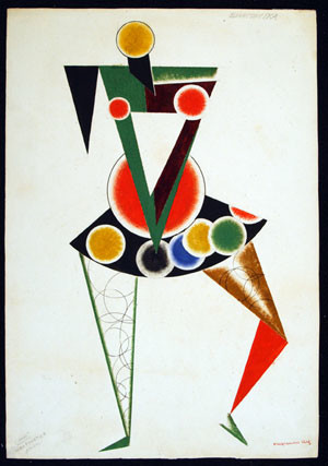Alexander Rodchenko, Costume design for 'We' play, 1919-1920