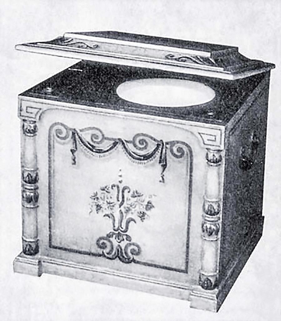 Eine tragbare Toilette aus dem 19. Jahrhundert