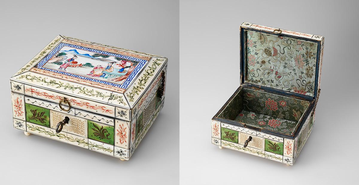 Boîte. Première moitié du XVIIIe siècle, défense de morse