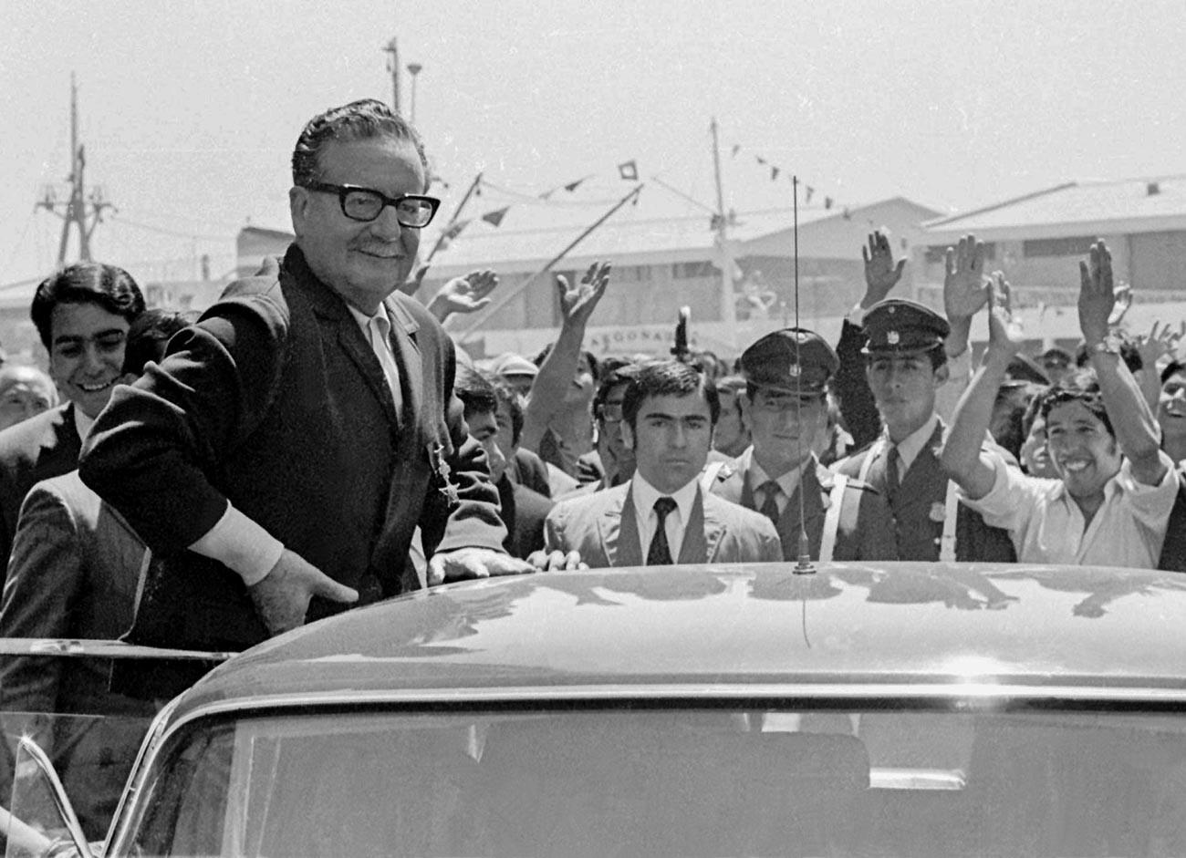 Chilean Socialist President Salvador Allende.