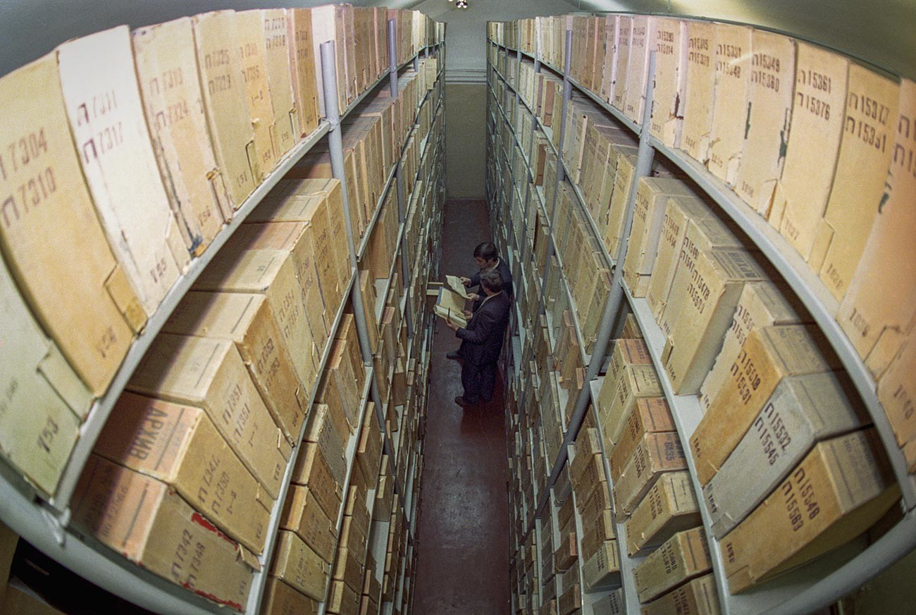 The KGB archives in Russia.