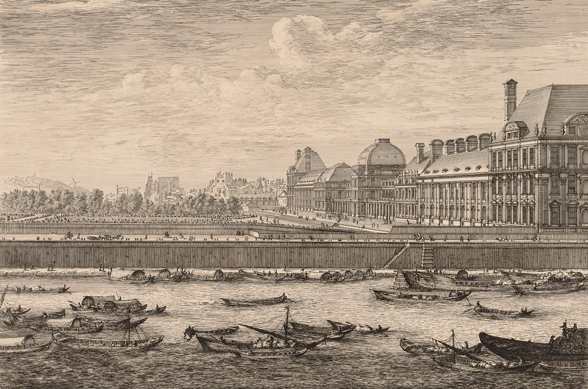 Вид на дворец и сад Тюильри, Париж