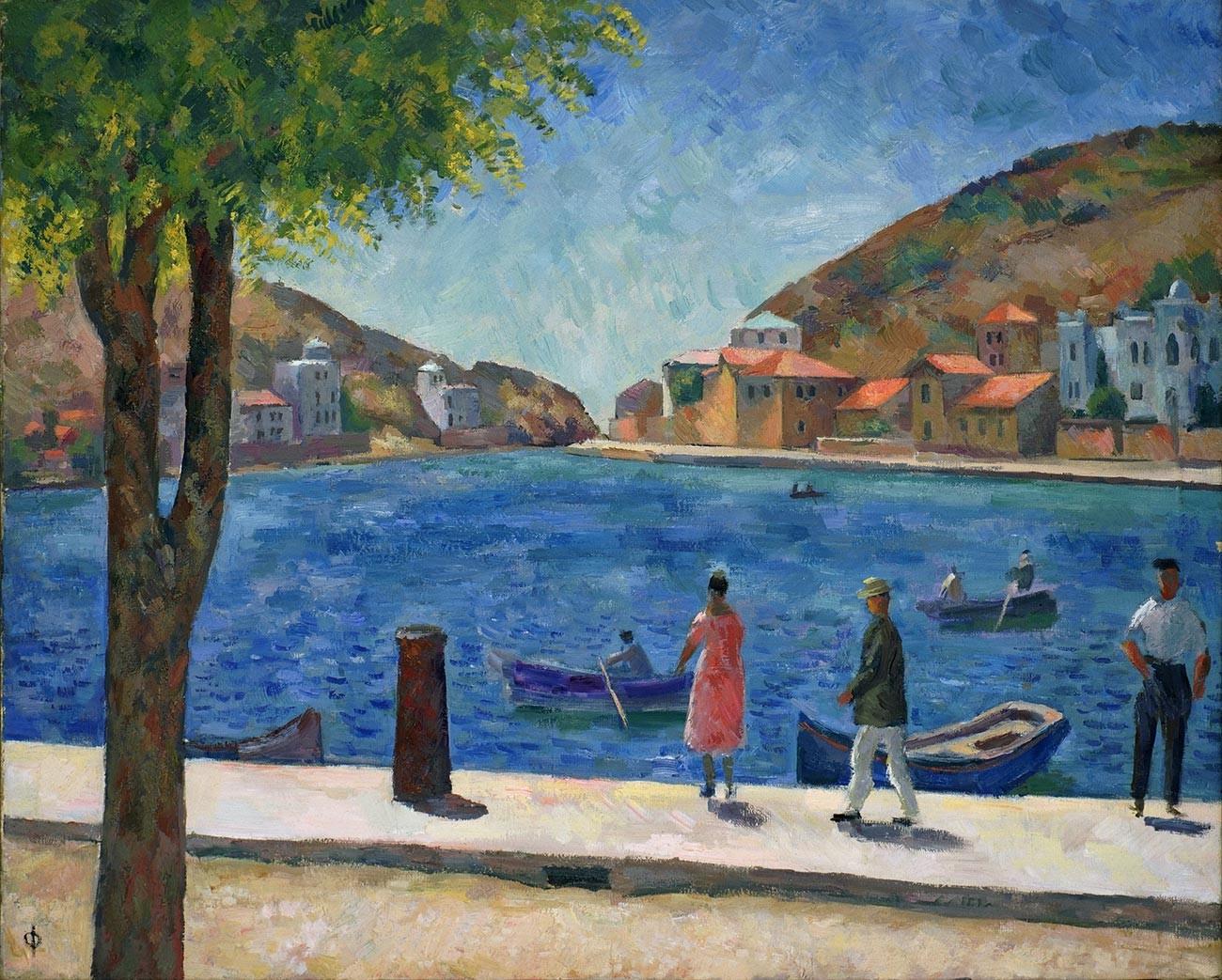 Baie à Balaklava [ville de Crimée]. 1927