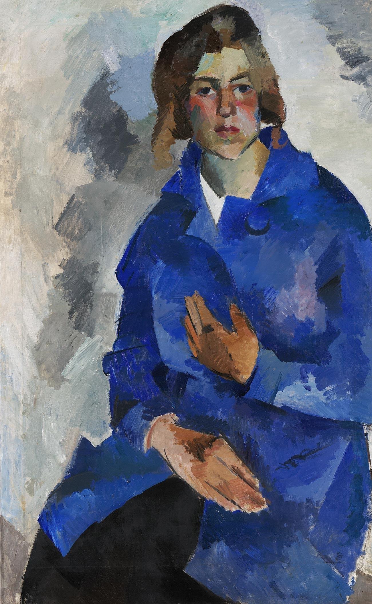 Portrait de K. Alekseïeva. 1919