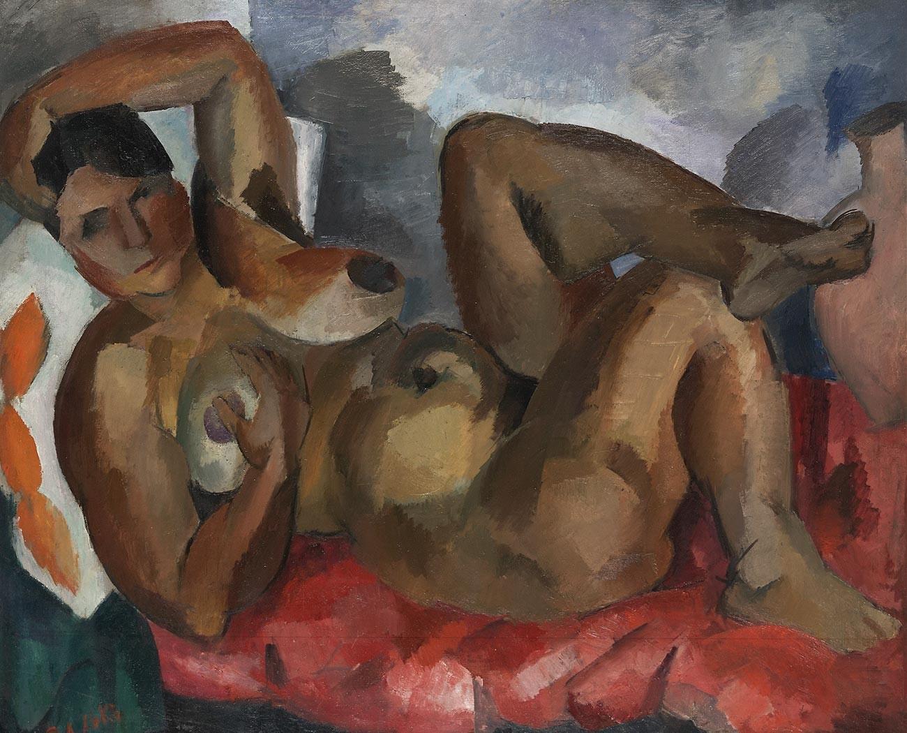 Femme nue. Crimée. 1916