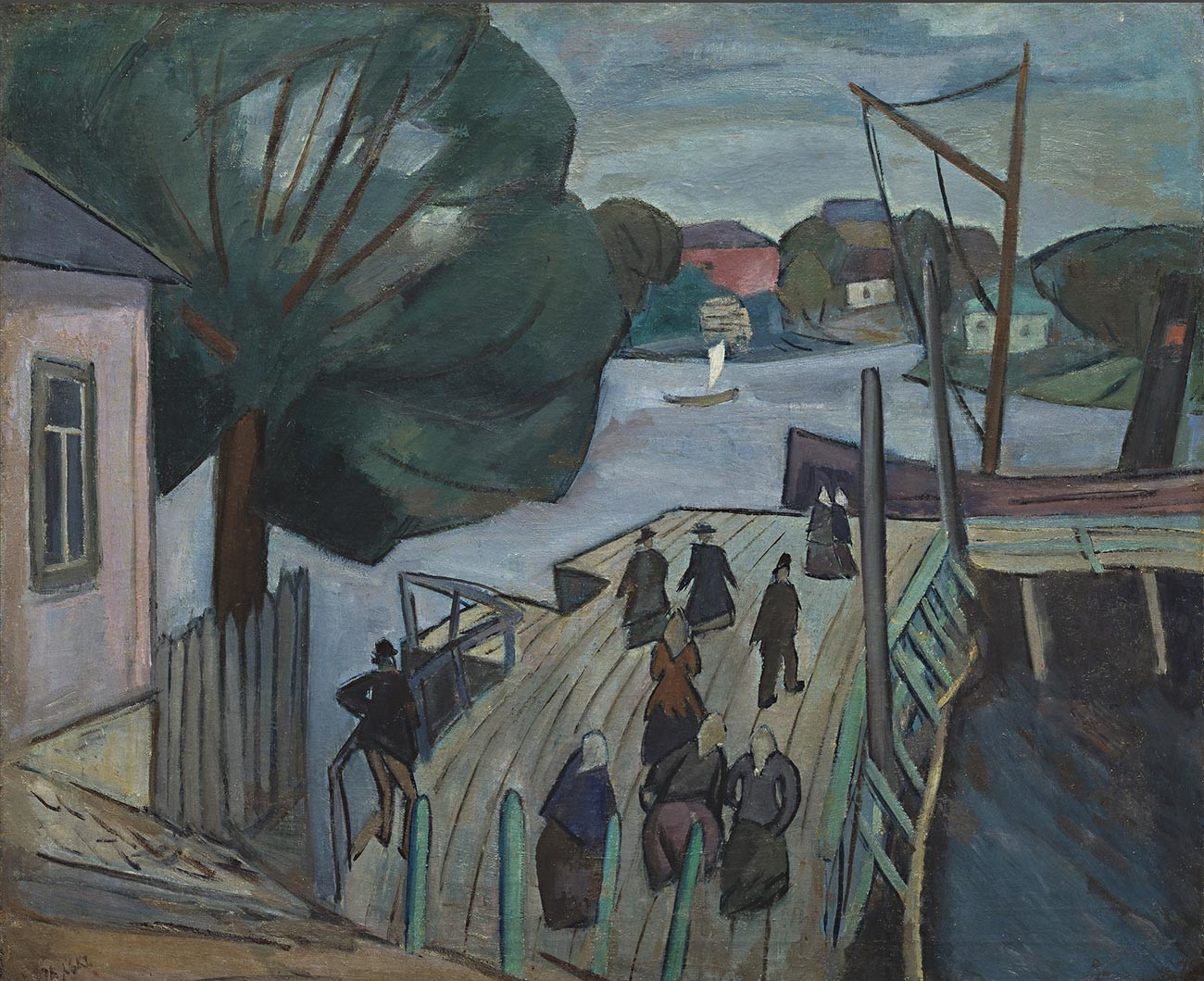 桟橋、灰色の日、1911年