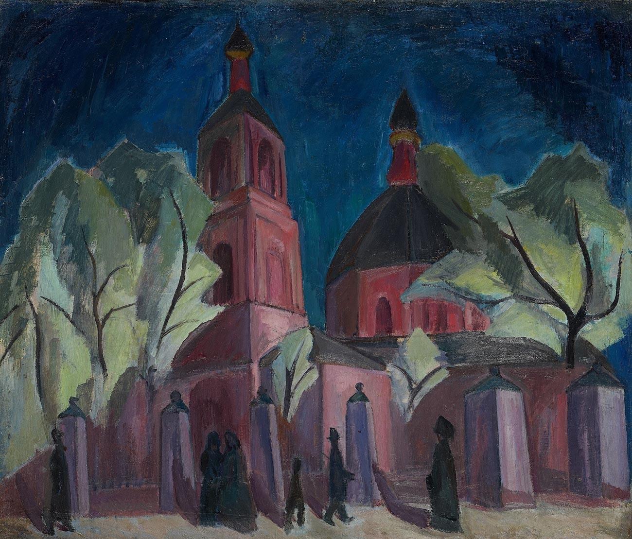 ライラック色の教会、1911〜1912年