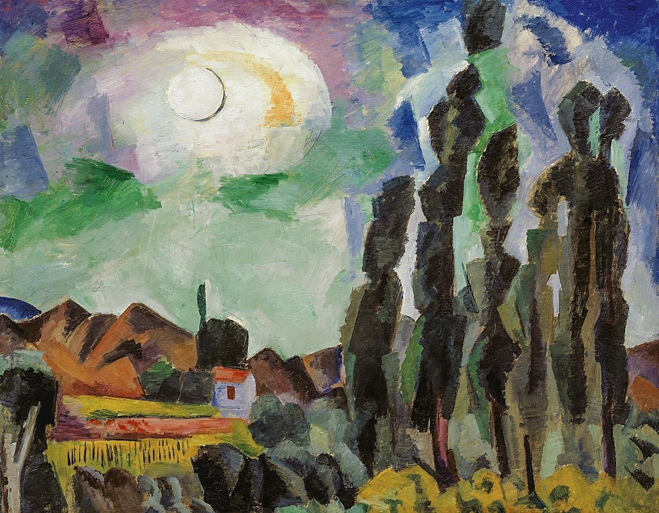 太陽、クリミア、羊、1916年