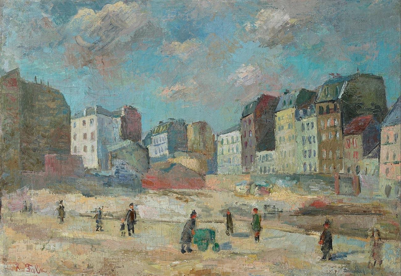 建設予定地、1934年