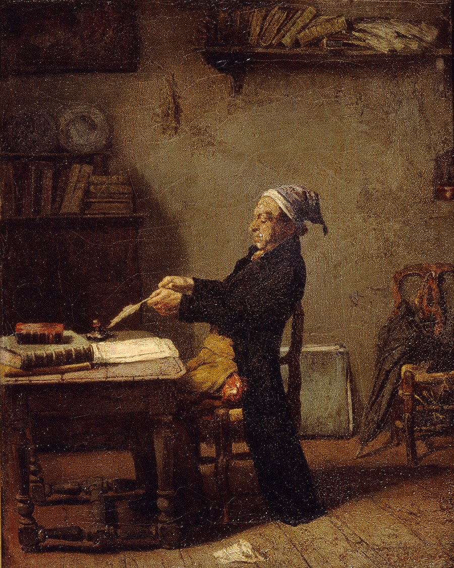 Ludwig Knaus. Scientist at work (From the Collection of State A. Pushkin Museum of Fine Arts, Moscow)