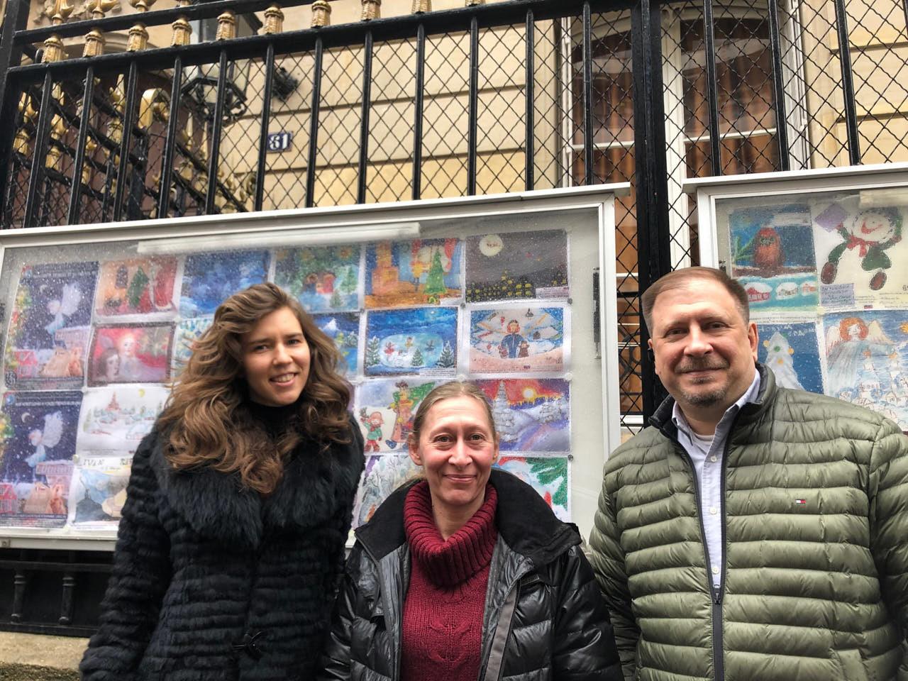 Asia Ovtchinnikova, Hélène Texier-Richard et Konstantin Volkov