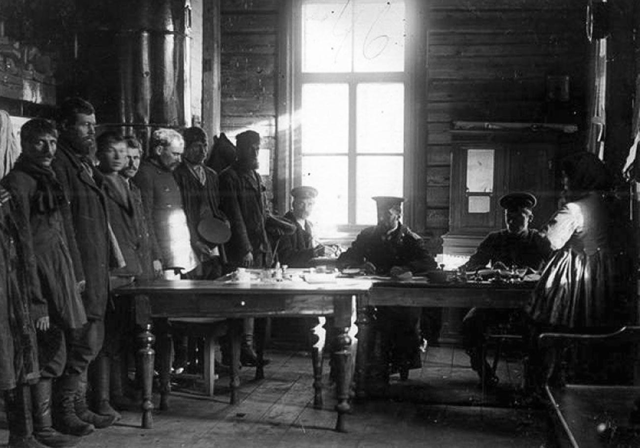 Registrierung von Binnenmigranten im Russischen Reich