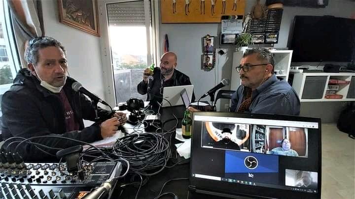 Un momento de la grabación de uno de los últimos programas de El Club de los Curiosos.