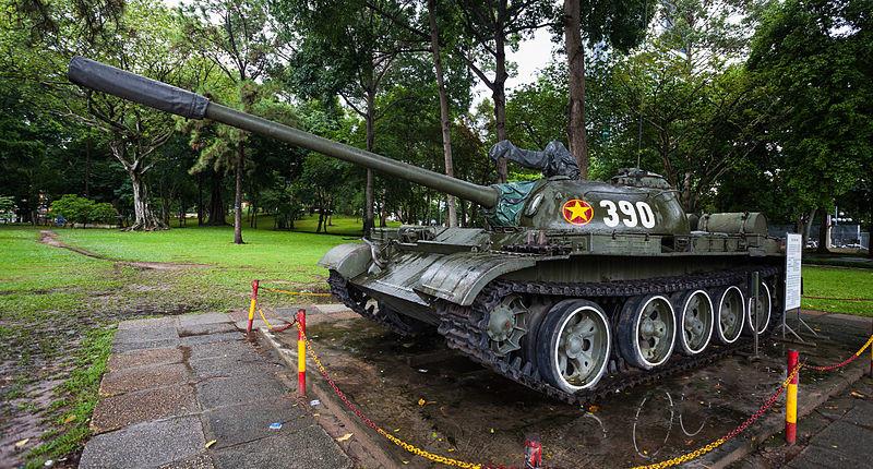 Tanque vietnamita T-54, Palacio de la Reunificación, Ciudad Ho Chi Minh, Vietnam