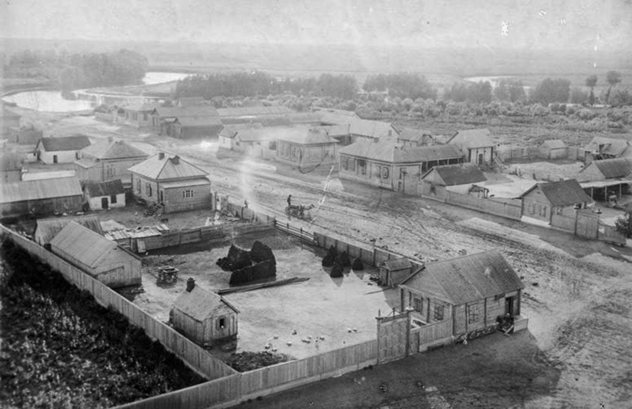 Немецкая колония Штреккерау (село Новокаменка) в 1920 году.