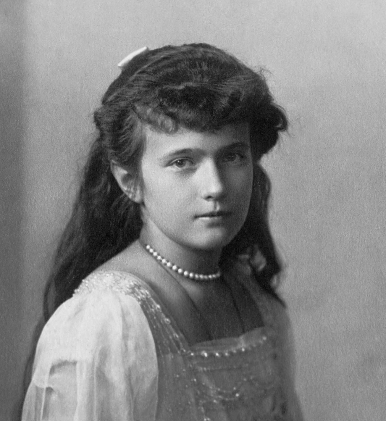Anastasía, hija del último zar de Rusia, Nicolás II. Fuente: Biblioteca del Congreso