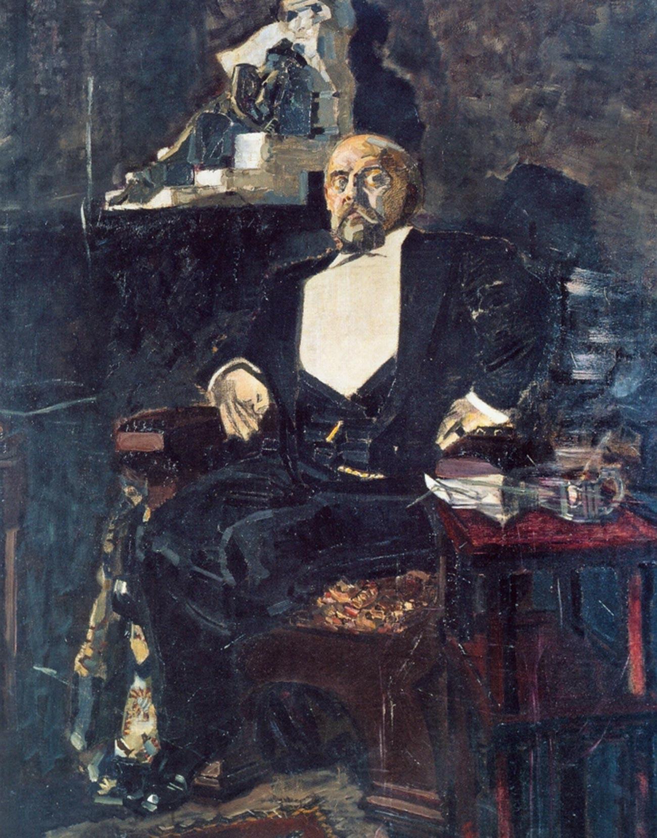 Михаил Врубель. Портрет Саввы Мамонтова. 1897