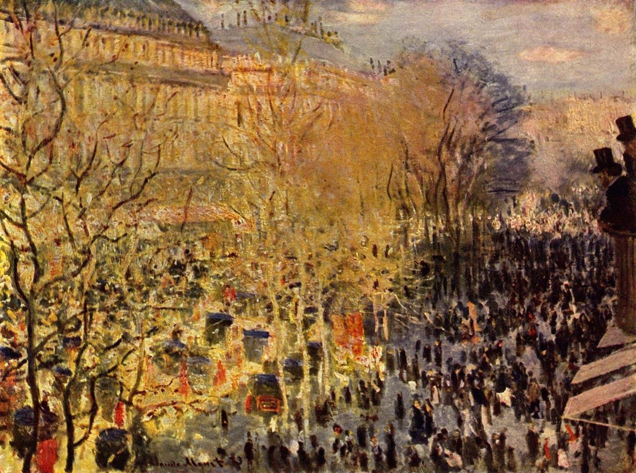 Клод Моне. «Бульвар Капуцинок в Париже», 1873