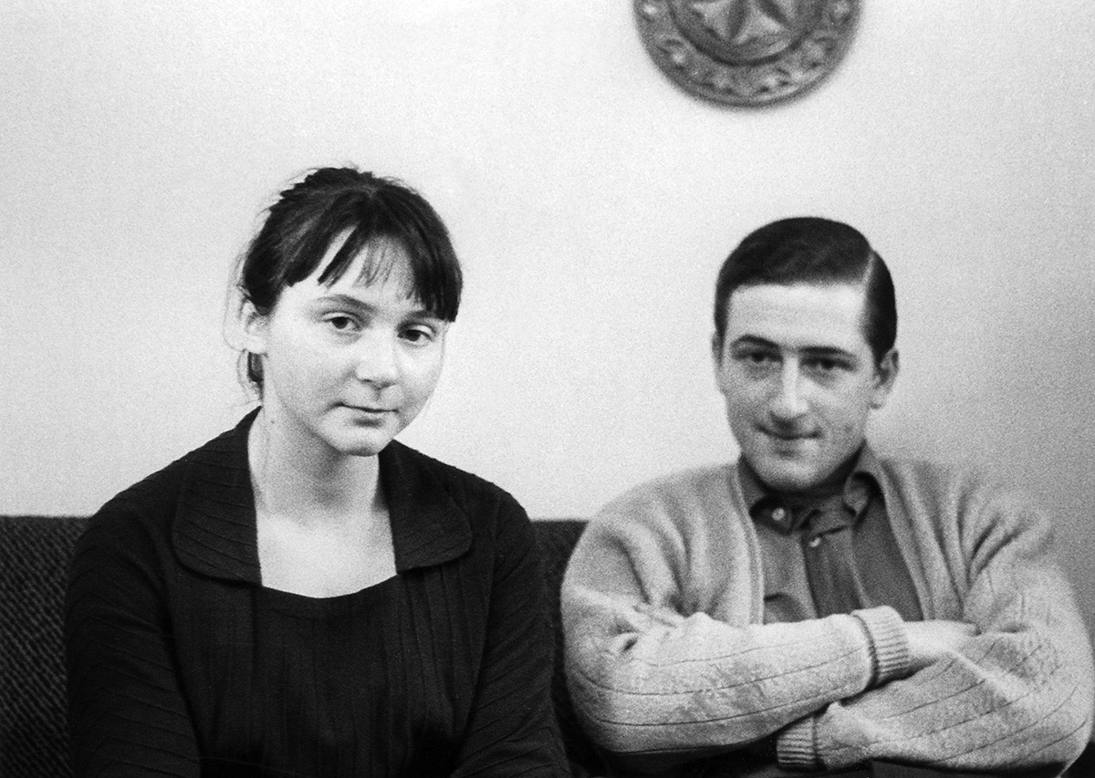Stalin's grandchildren Yekaterina Zhdanova and Joseph Alliluyev