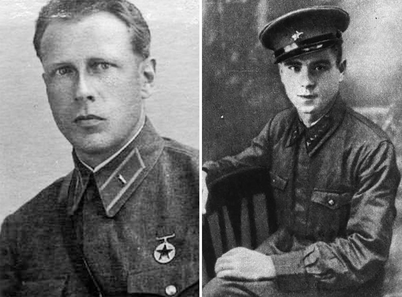 Branitelja Brestske trdnjave: levo Aleksander Emiljevič Duljkejt, desno Vjačeslav Eduardovič Mejer