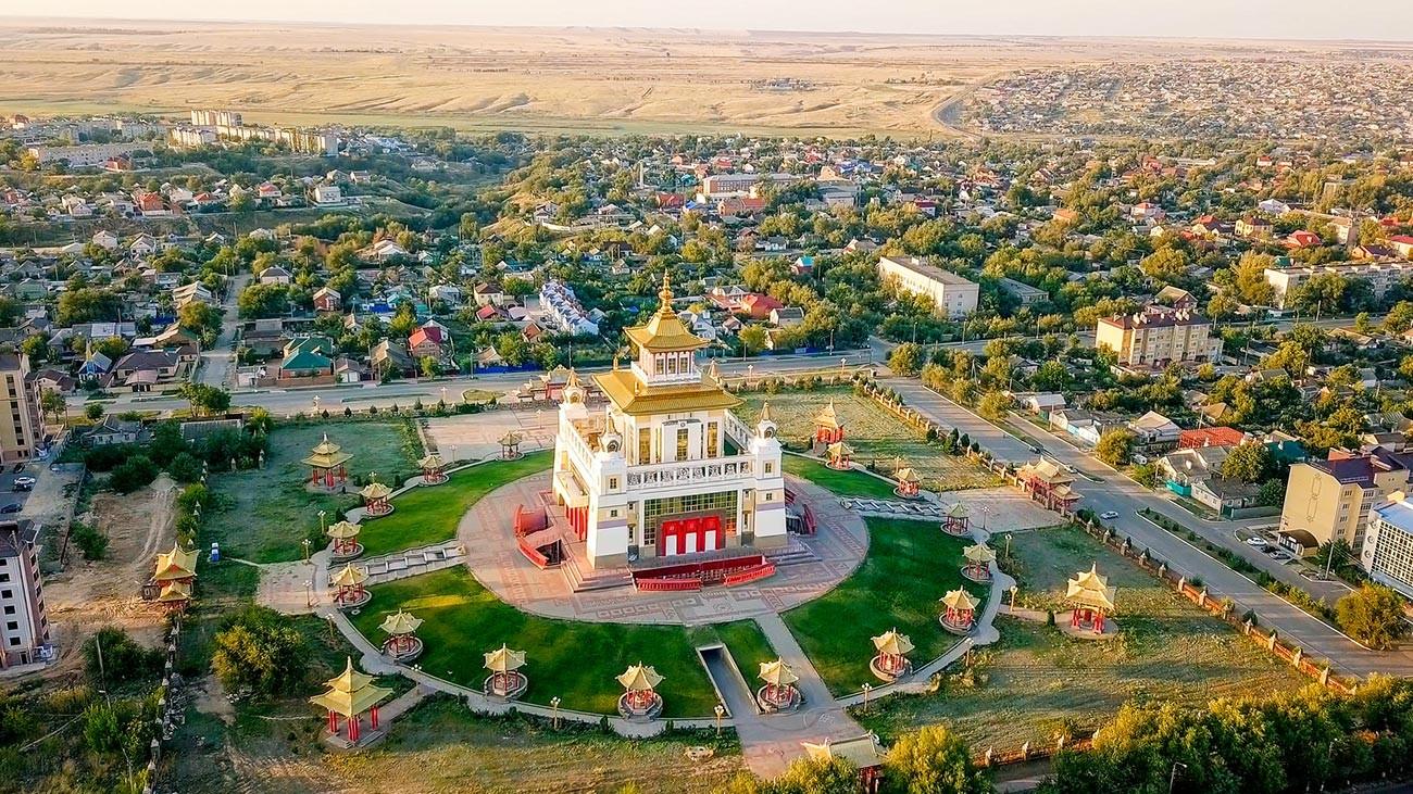 Elista et son principal temple