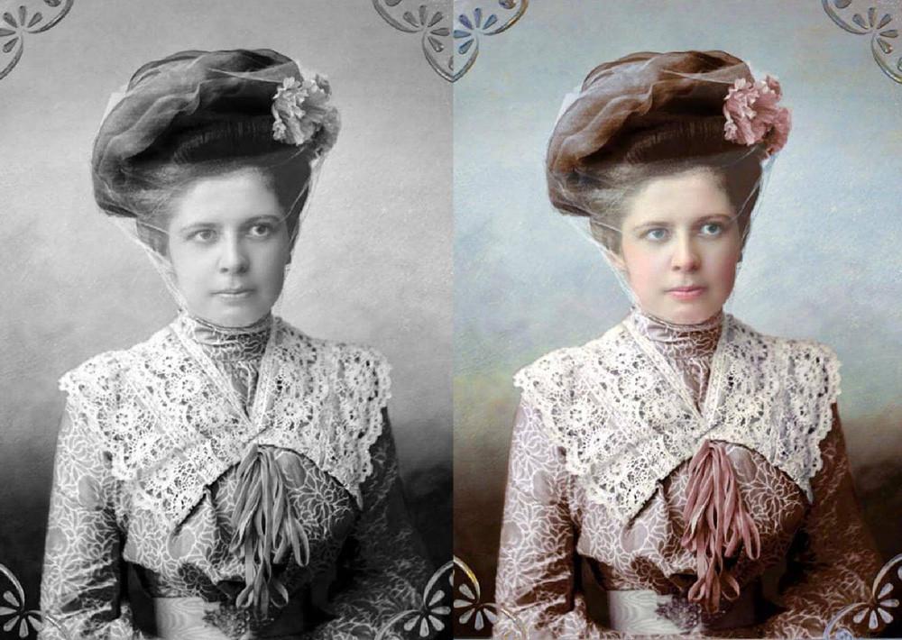 Eine modebewusste Dame aus der Region Twer, 1900er