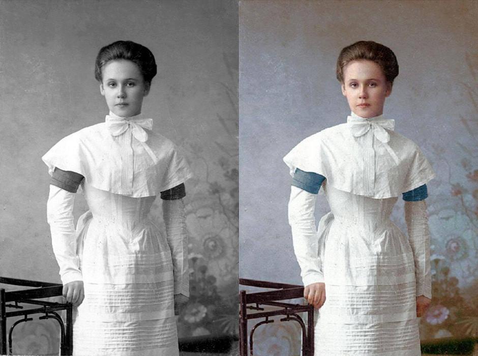Studentin der Bildungseinrichtung für Mädchen edler Herkunft, St. Petersburg