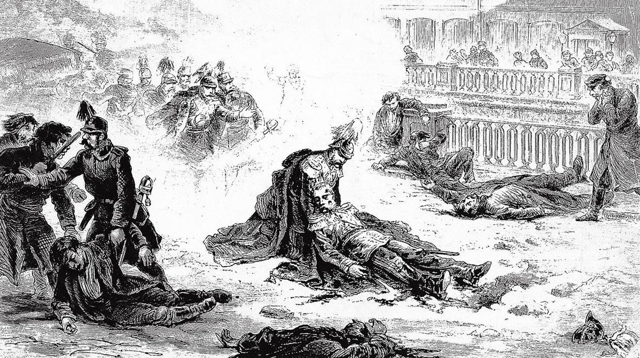 Pembunuhan Aleksandr II dari Rusia, 1 Maret 1881.