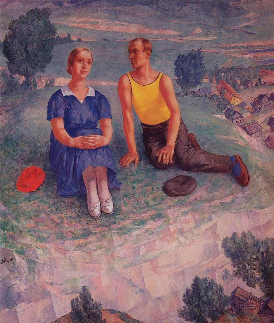 Spring, 1935. Kuzma Petrov-Vodkin.