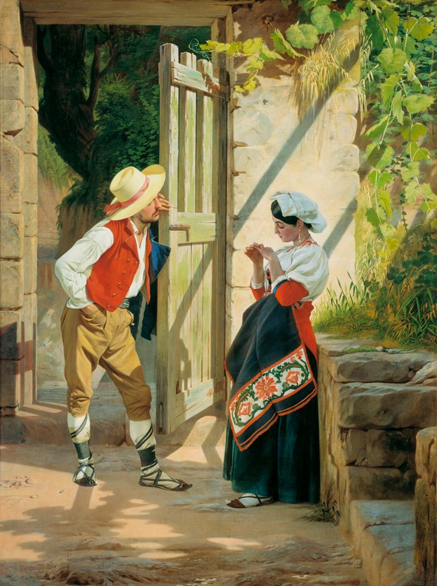 Dating, 1858. Yevgraph Sorokin