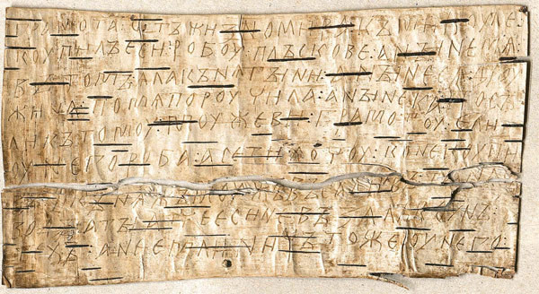 Novgorodski zapis na brezovem lubju