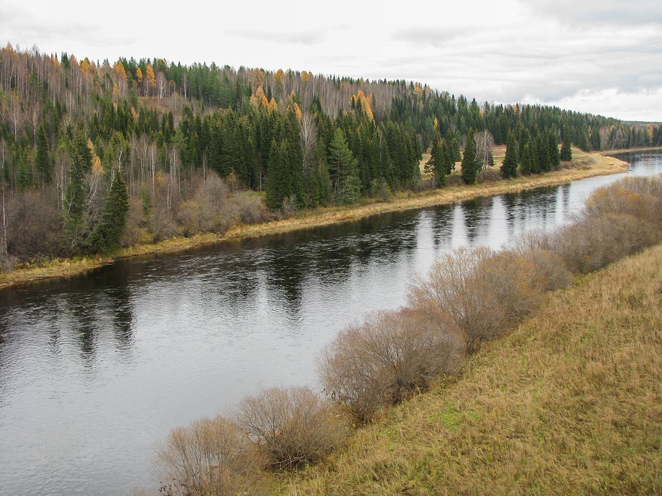 The Ukhta river, where oil deposits have been discovered