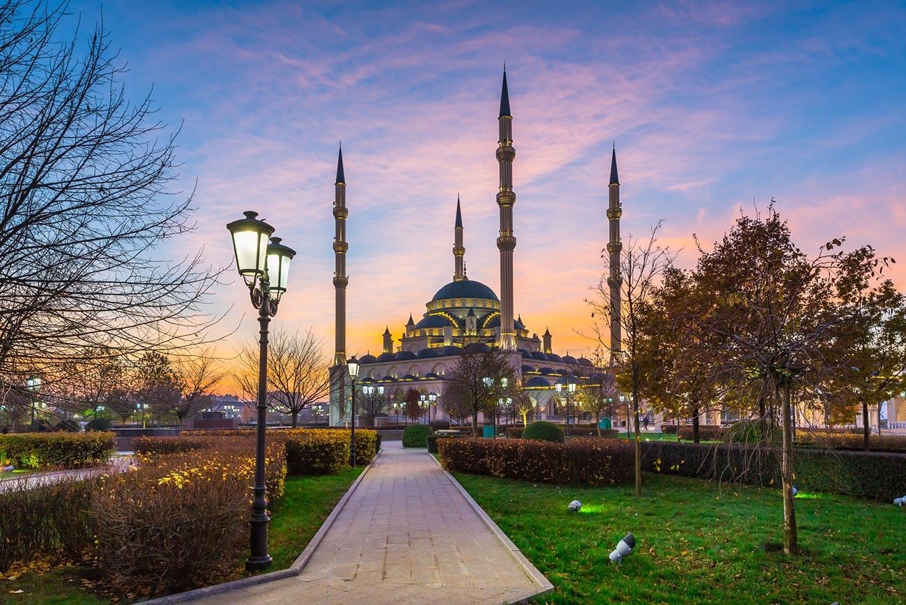 La mezquita de Chechenia.