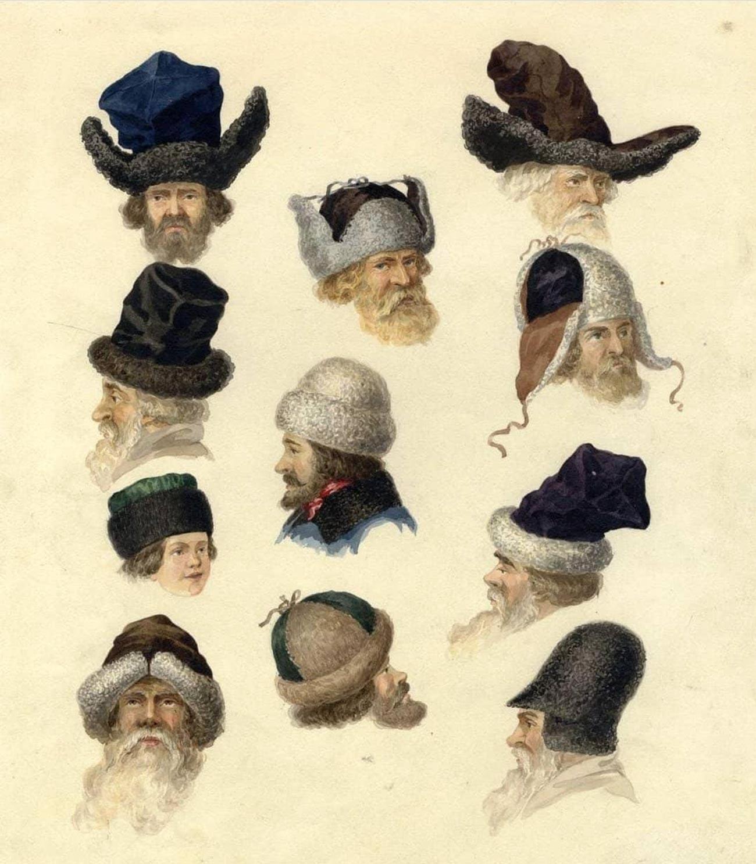 Aucune de ces coiffes n'est en fait une ouchanka. La seule qui y ressemble est l'exemple du haut de la colonne du milieu.