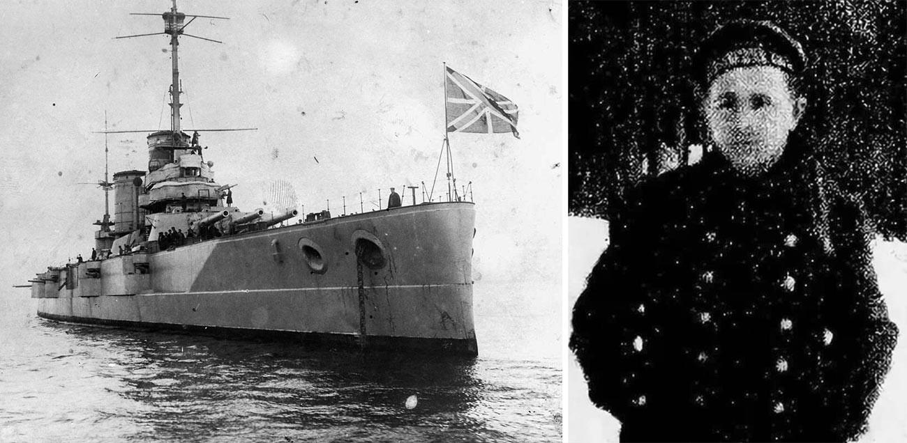 Kapal perang Kekaisaran Rusia Petropavlovsk dan Stepan Petrichenko.