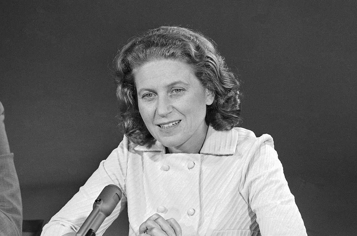 La figlia di Stalin Svetlana Allilueva, 1970