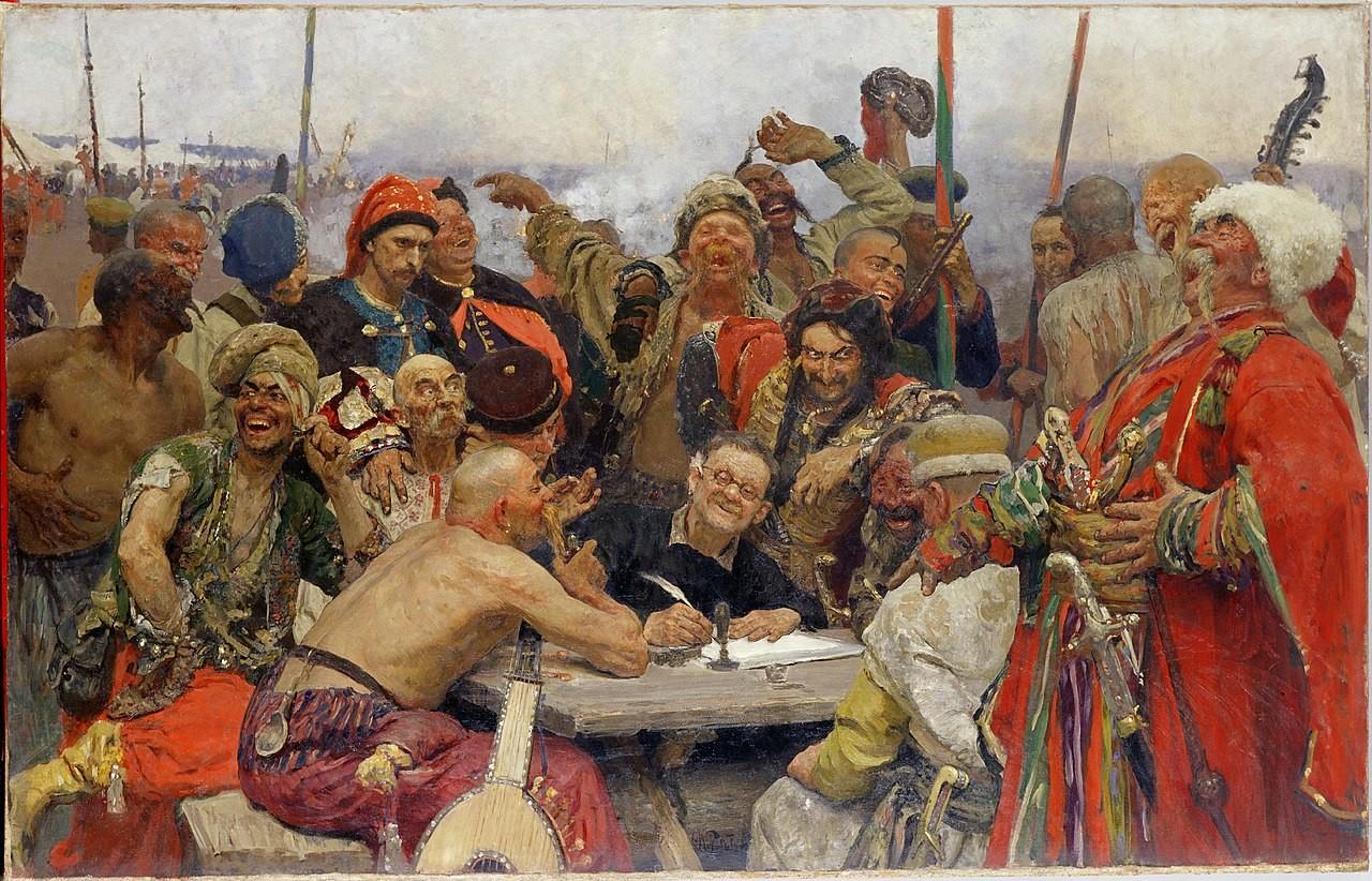 """Иља Рјепин (1844–1930). """"Запорошки козаци"""", уље на платну, 1898–1893."""