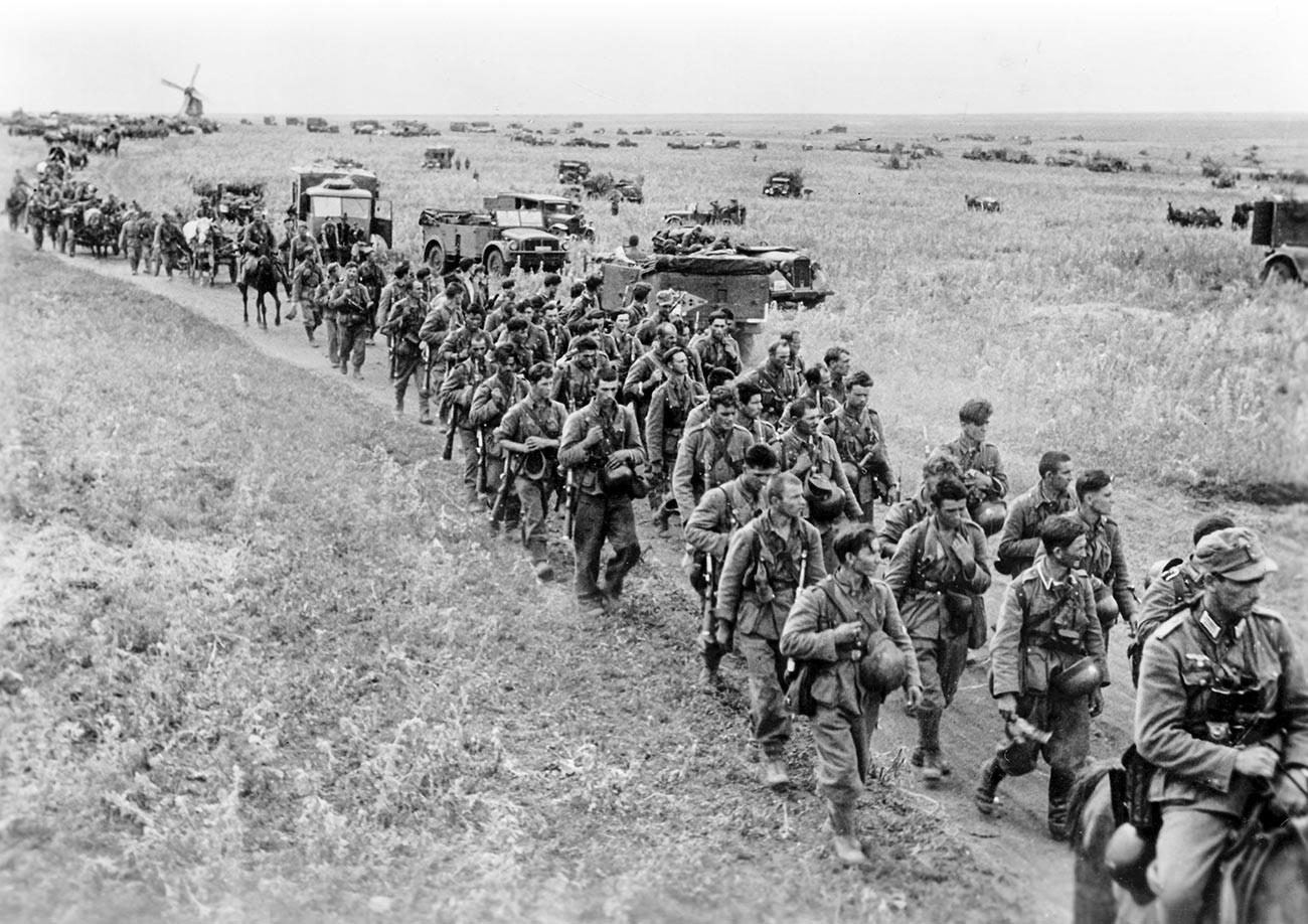 Хрватски војници који служе Вермахту на Источном фронту.