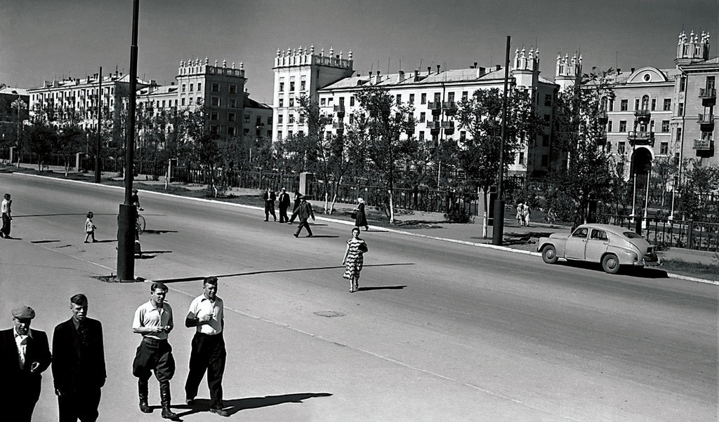 Sotsgorod in Magnitogorsk, 1950s.