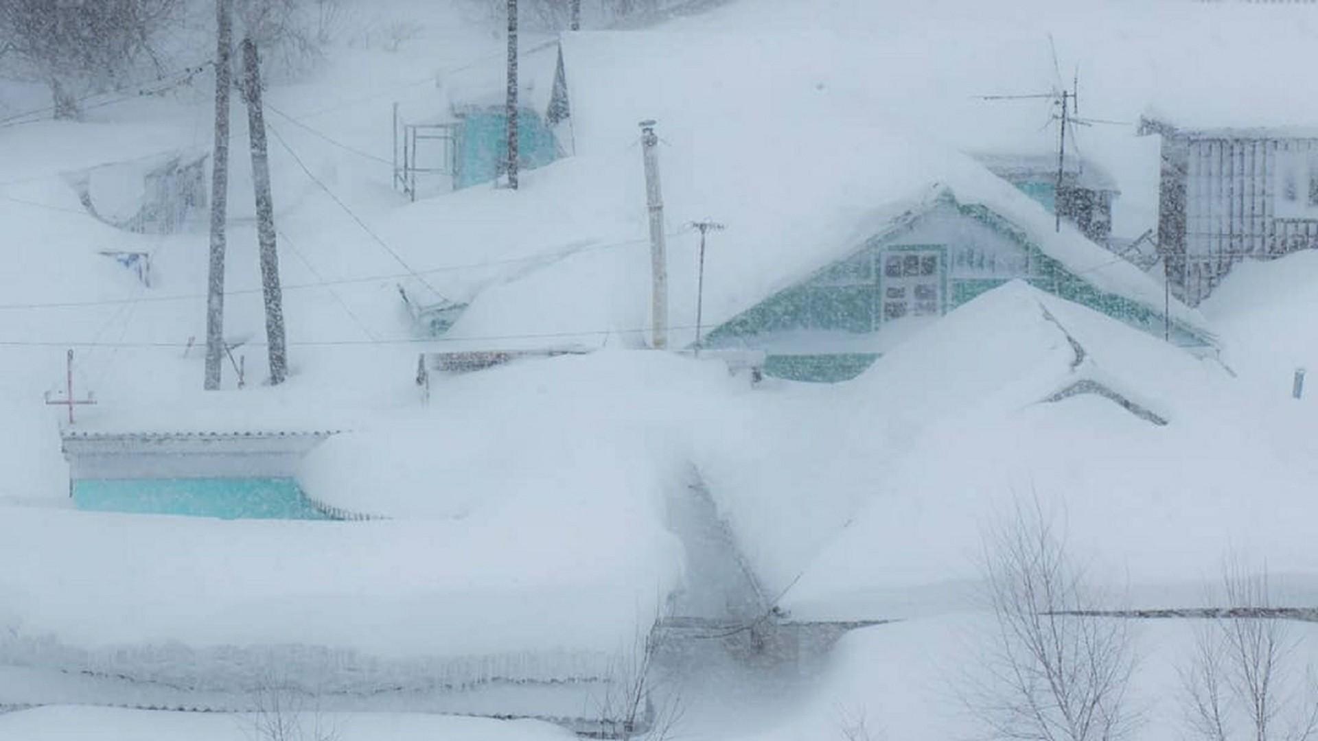 Maisons à Sakhaline lors d'un précédent en 2018