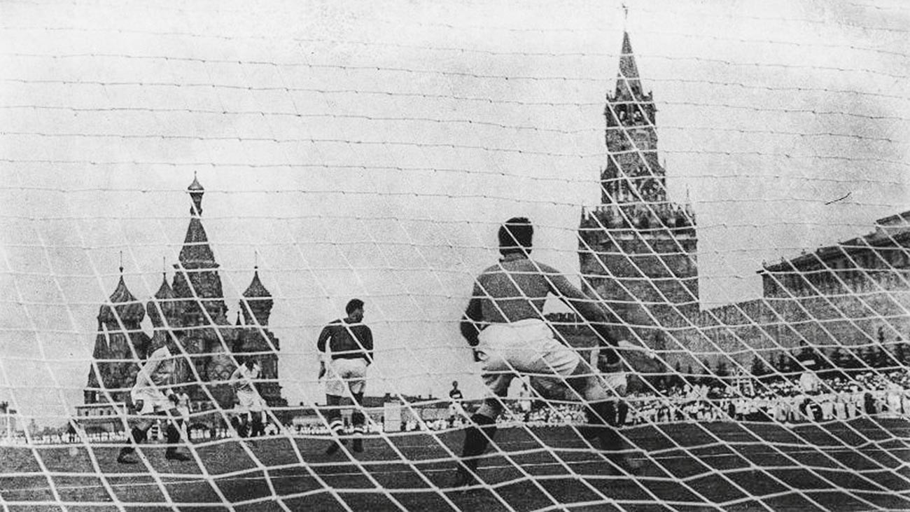 Soccer game on Red Square